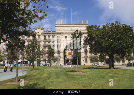 Banco de Santander in Santander Cantabria Spain - Stock Photo