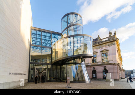 Deutsches Historisches Museum extension by Chinese American architect I. M. Pei, German Historical Museum, DHM, - Stock Photo