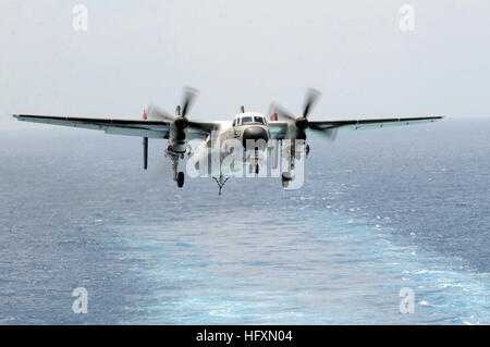 090715-N-6106R-224 ATLANTIC OCEAN (July 15, 2009) A C-2A Greyhound assigned to Fleet Logistics Support Squadron - Stock Photo