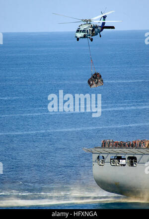 090725-N-2013O-066 PACIFIC OCEAN (July 25, 2009) – An MH-60S Knighthawk from the Island Knights, Helicopter Combat - Stock Photo
