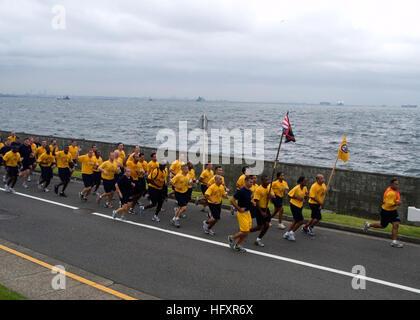 090902-N-1251W-001 YOKOSUKA, Japan (Sept. 02, 2009) Chief petty officer (CPO) selects lead area commanders, flag - Stock Photo