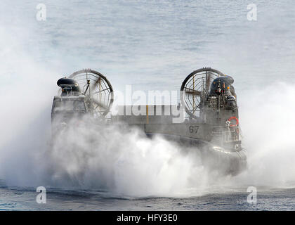 100306-N-1082Z-057 U.S. 5th FLEET AREA OF RESPONSIBILITY (March 6, 2010) Landing Craft Air Cushion (LCAC) 67, assigned - Stock Photo