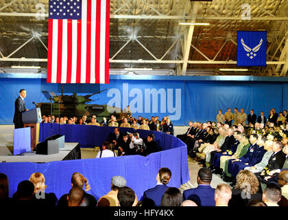 100331-N-9565D-253 ANDREWS AIR FORCE BASE, Md. (March 31, 2010) President Barack Obama, with the Navy's F/A-18 Green - Stock Photo
