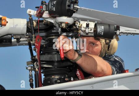100416-N-0486G-001 MAYPORT, Fla. (April 16, 2010) Aviation Machinist's Mate 2nd Class Scott Schinke, assigned to - Stock Photo