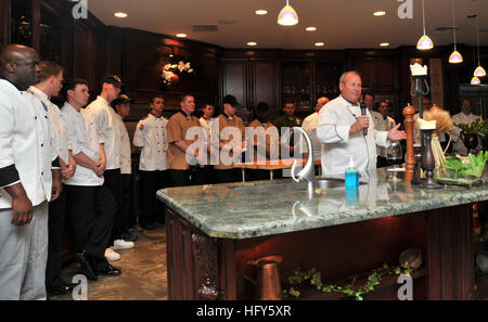 100428-N-5812W-002 FORT LAUDERDALE, Fla. (April 28, 2010) Chef Hugh McCauley starts this yearÕs Fleet Week Galley - Stock Photo