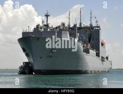 100609-N-8241M-061 GUANTANAMO BAY, Cuba (June 9, 2010) The Military Sealift Command dry cargo and ammunition ship - Stock Photo