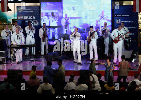 110916-N-FP123-104 CEBU CITY, Republic of the Philippines (Sept. 16, 2011) The U.S. 7th Fleet Band, Orient Express, - Stock Photo