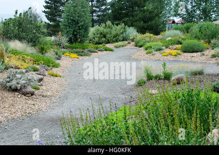 Dry garden in Kendrick Lake Park in Lakewood, Colorado Stock Photo ...