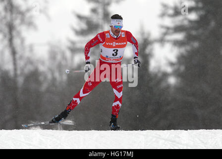 Oberstdorf, Germany. 04th Jan, 2017. Alex Harvey of Canada skis during the men's pursuit race during the FIS Tour - Stock Photo
