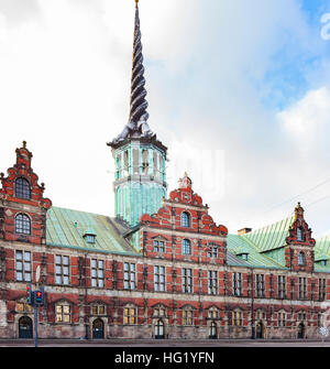 Image of the historical stock exchange in Copenhagen, Denmark. - Stock Photo