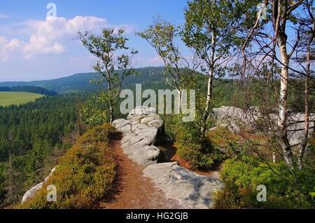 Heuscheuergebirge in Schlesien, Polen - Stolowe Mountains in Silesia, Poland - Stock Photo