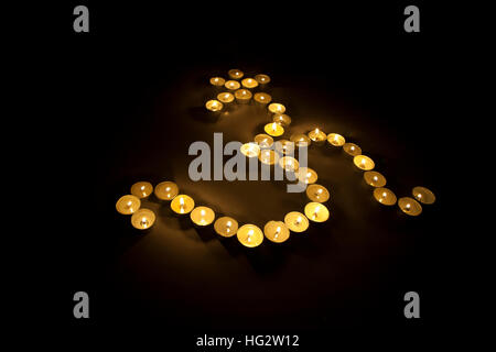 Om with lamps - Stock Photo
