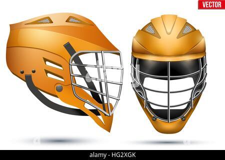 Lacrosse Helmet set - Stock Photo