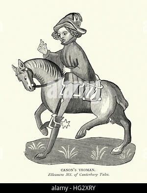 Character from Geoffrey Chaucer's, Canterbury Tales, the Canon's Yeoman - Stock Photo