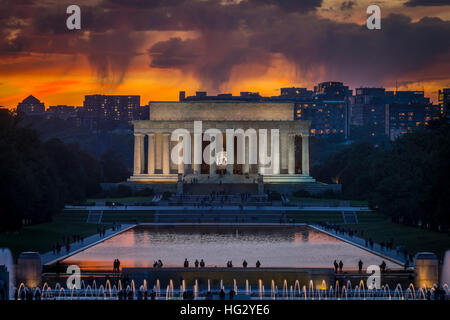 Lincoln Memorial, Washington DC USA - Stock Photo