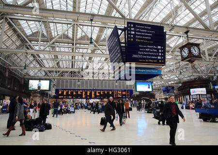 Glasgow Central Station, in Scotland, in the UK - Stock Photo