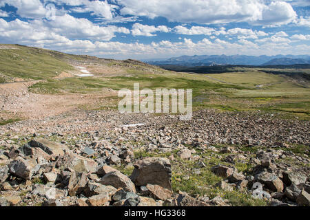 View from Beartooth Highway, Wyoming, United States - Stock Photo