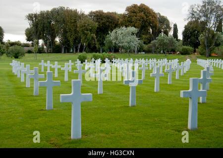 The American war cemetery in Nettuno, Italy - Stock Photo
