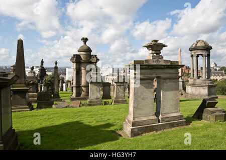 Glasgow Necropolis, Scotland, UK. - Stock Photo