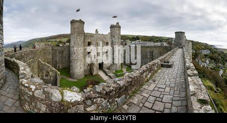 Harlech Castle, Gwynedd, Wales - Stock Photo