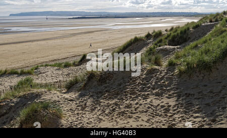 Camber Sands, Camber, East Sussex, Britain - Stock Photo