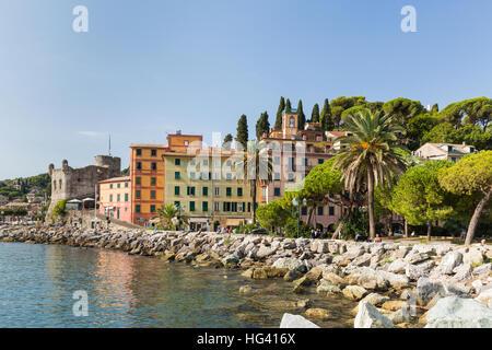 Santa Margherita Ligure town in Italy - Stock Photo