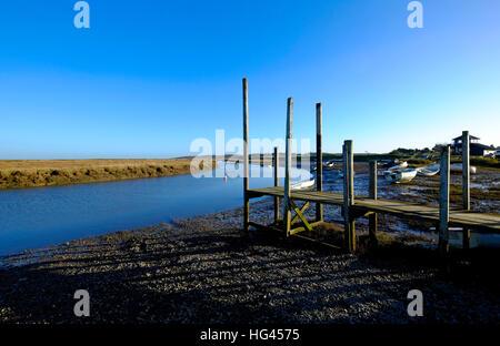 morston quay, north norfolk, england - Stock Photo