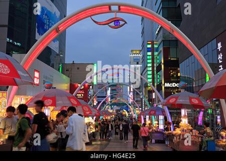 BIFF Square, Nampo District, Busan, South Korea, Asia - Stock Photo