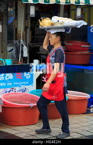 Fish Market, Nampo District, Busan, South Korea, Asia - Stock Photo