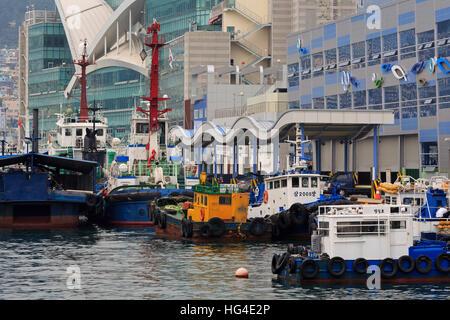 Jagalchi Fish Market, Nampo District, Busan, South Korea, Asia - Stock Photo
