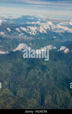 Aerial of the western highlands of Papua New Guinea, Pacific - Stock Photo