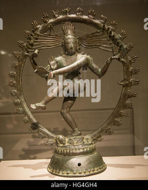 Shiva as Lord of Dance (Shiva Nataraja), India (Tamil Nadu), Chola period, late 11th century copper alloy. Metropolitan - Stock Photo