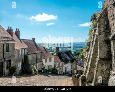 Gold Hill, Shaftsbury - Stock Photo