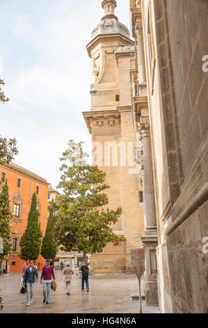 At the cathedral of Granada, Andalusia, Spain - Stock Photo