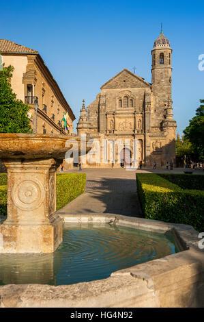 Chapel San Salvador,  town Ubeda, Zona Monumental, UNESCO world heritage site, province Jaen, Andalusia, Spain - Stock Photo