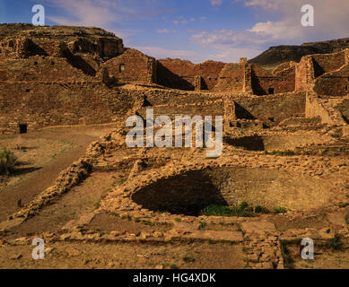 Kiva, Chaco Culture National Historical Park - Stock Photo