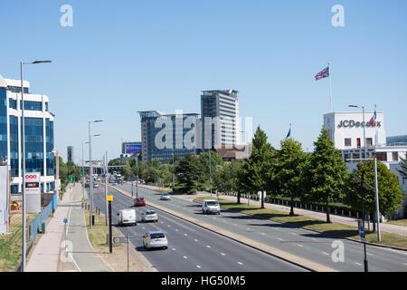Great West Road, Brentford, London Borough of Hounslow, Greater London, England, United Kingdom - Stock Photo