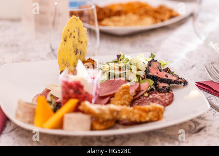 Assorted fresh cold cut platter - Stock Photo