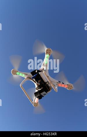 Phantom Drone in flight - Stock Photo