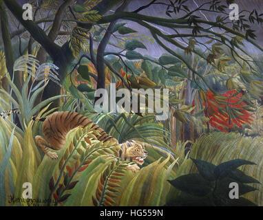 Henri Rousseau Le Douanier , Tiger in a tropical storm - Stock Photo