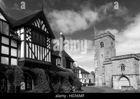 Spring, Holy Trinity parish church, Much Wenlock town, Shropshire County, England, UK - Stock Photo