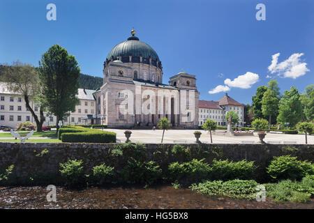 Abbey church St. Blasien, Black Forest, Baden-Wurttemberg, Germany - Stock Photo