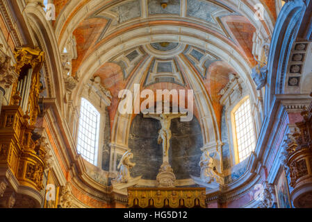 Main Chapel with ceiling, Evora Cathedral, Evora, UNESCO, Portugal - Stock Photo