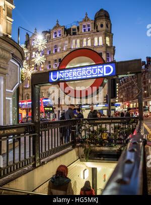 Knightsbridge Underground Station London UK - Stock Photo