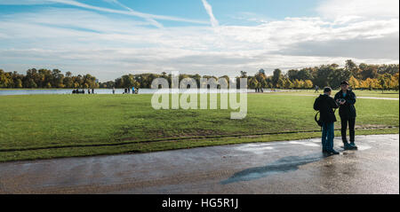 London, United Kingdom - October 17, 2016: People are visiting Kensington Gardens in London, England. - Stock Photo