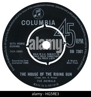 columbia record label on a 45 rpm single vinyl record