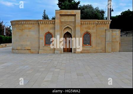 Memorial building on the Martyrs' lane, Baku - Stock Photo