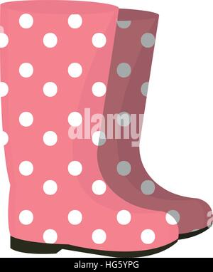 Rubber boots icon. Gumboots isolated on white background. Wellingtons vector illustration. - Stock Photo