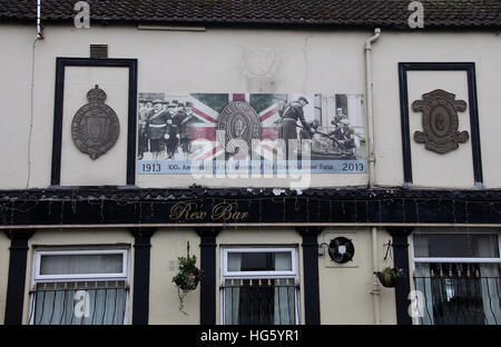Rex Bar on the Shankill Road in Belfast - Stock Photo