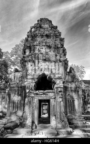Ta Prohm doorway in Siem Reap Cambodia, Asia - Stock Photo